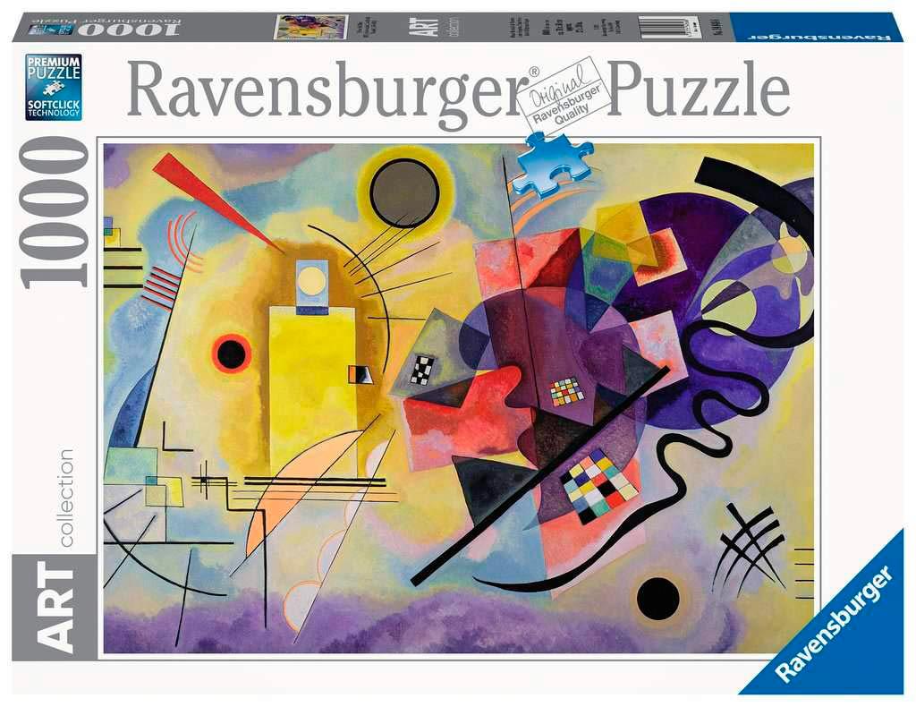 Puzzle Ravensburger Amarillo, Rojo, Azul de 1000 Piezas