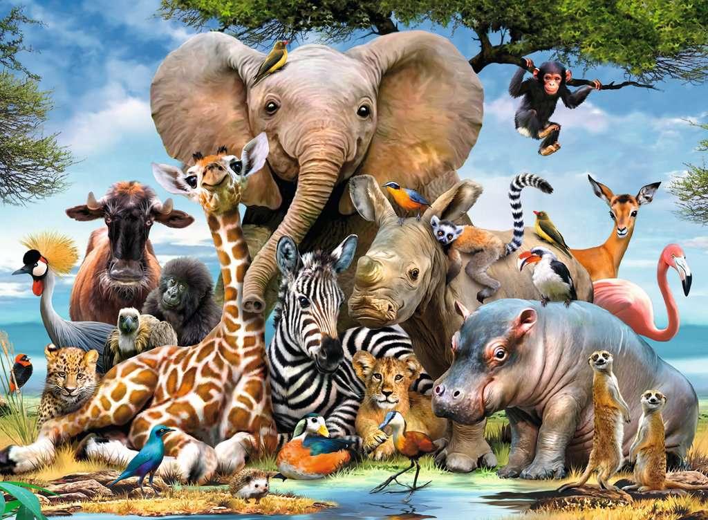 Puzzle Ravensburger Amigos Africanos XXL 300 Piezas