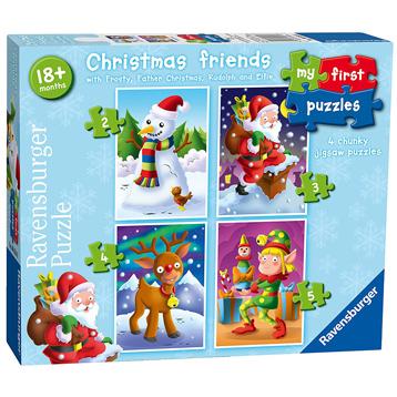 Puzzle Ravensburger Amigos de Navidad, Progresivo de 2+3+4+5 Pzs