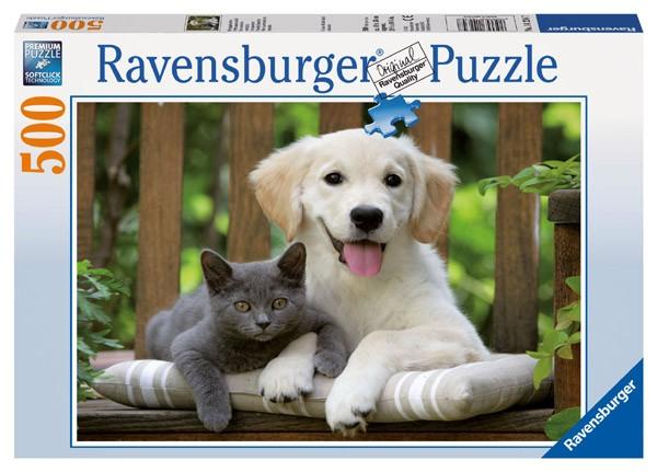 Puzzle Ravensburger Amistosos animales de 500 Piezas