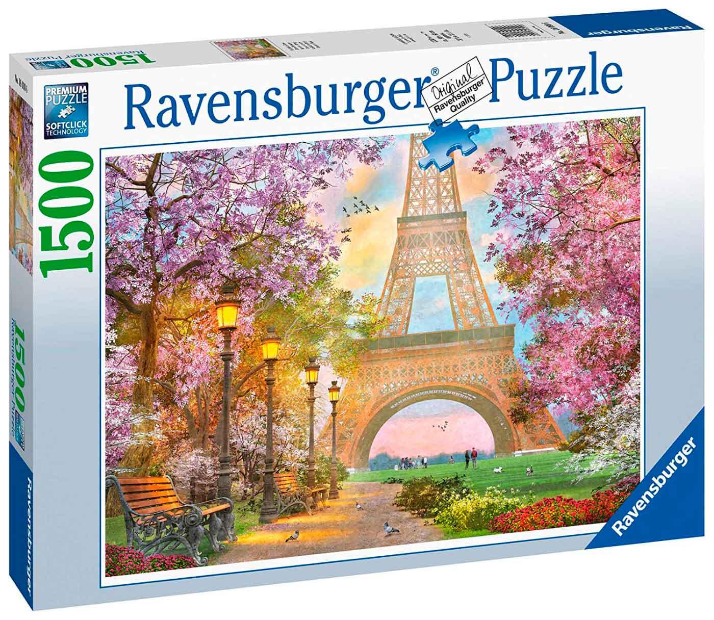 Puzzle Ravensburger Amor en París de 1500 Piezas