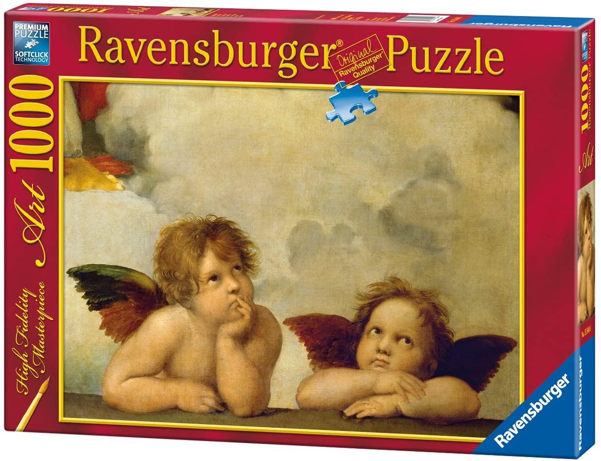 Puzzle Ravensburger Ángeles de la La Madonna Sixtina 1000 Pzs.