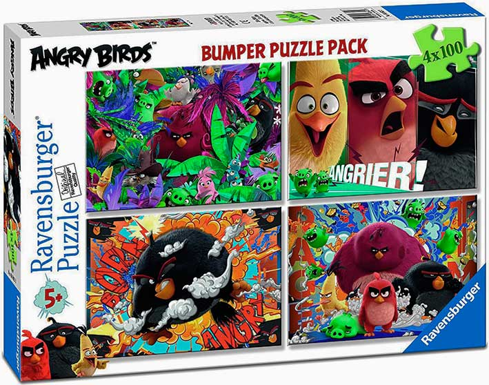 Puzzle Ravensburger Angry Birds 4 x 100 Piezas