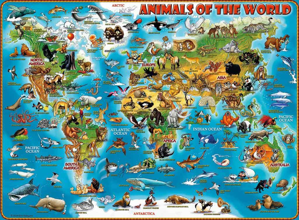 Puzzle Ravensburger Animales del Mundo XXL 300 Piezas