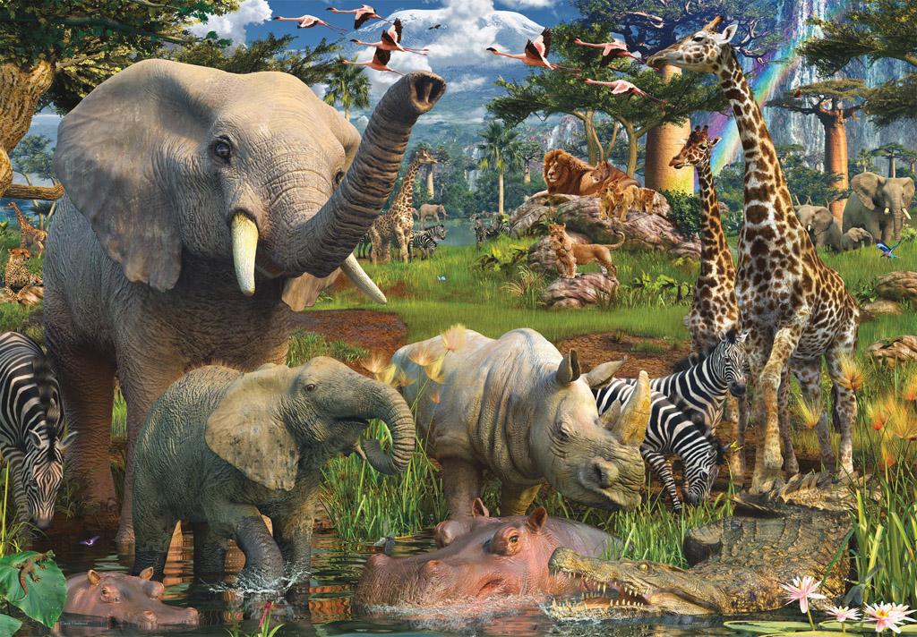 Puzzle Ravensburger Animales en la Charca de 18000 Piezas