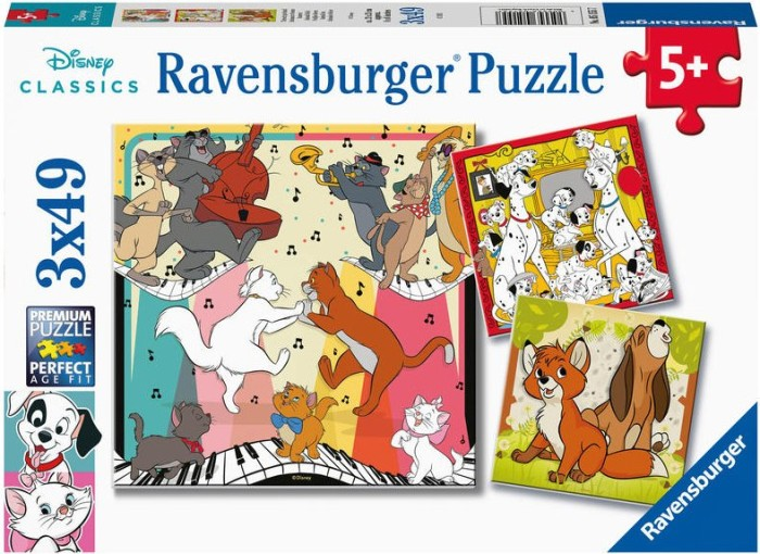 Puzzle Ravensburger Animales Felices de 3x49 Piezas