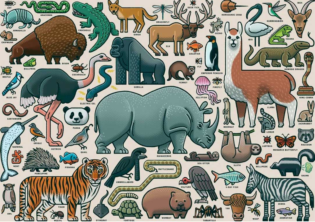 Puzzle Ravensburger Animales Salvajes de 1000 Piezas