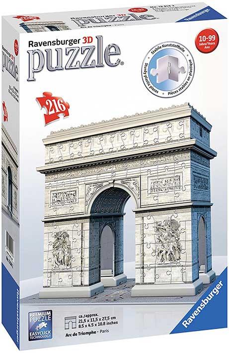 Puzzle Ravensburger 3D Arco del Triunfo de 216 Piezas