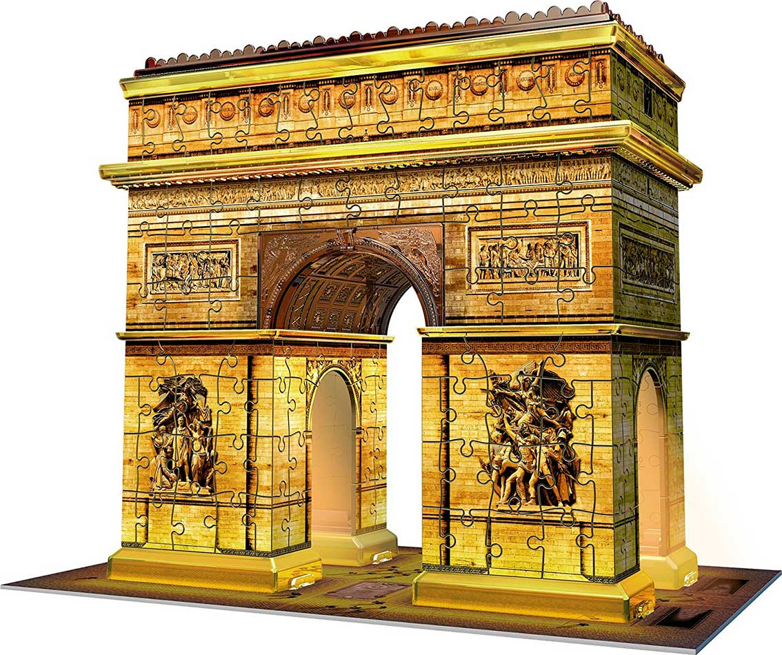 Puzzle Ravensburger Arco del Triunfo Night Edition 3D 3D 216