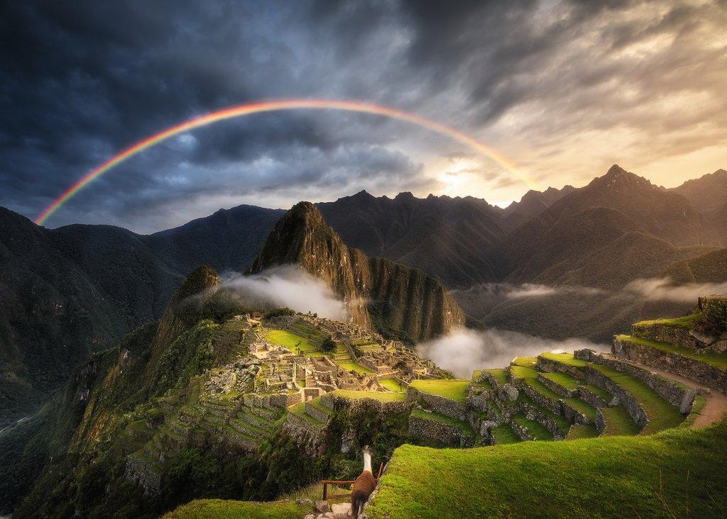 Puzzle Ravensburger Arcoíris en Machu Picchu, Perú de 1000 Pieza