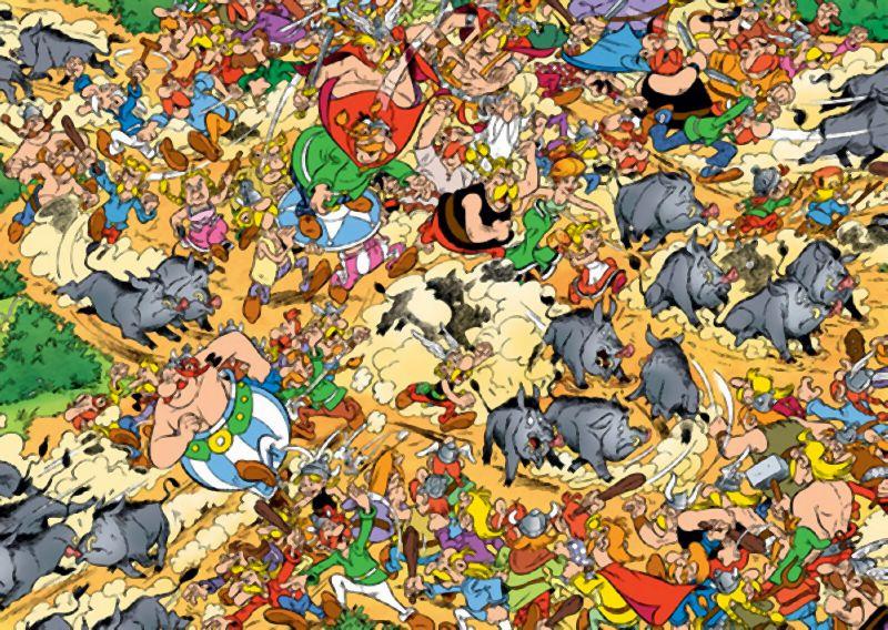 Puzzle Ravensburger Astérix, Caza del Jabalí de 1000 Piezas
