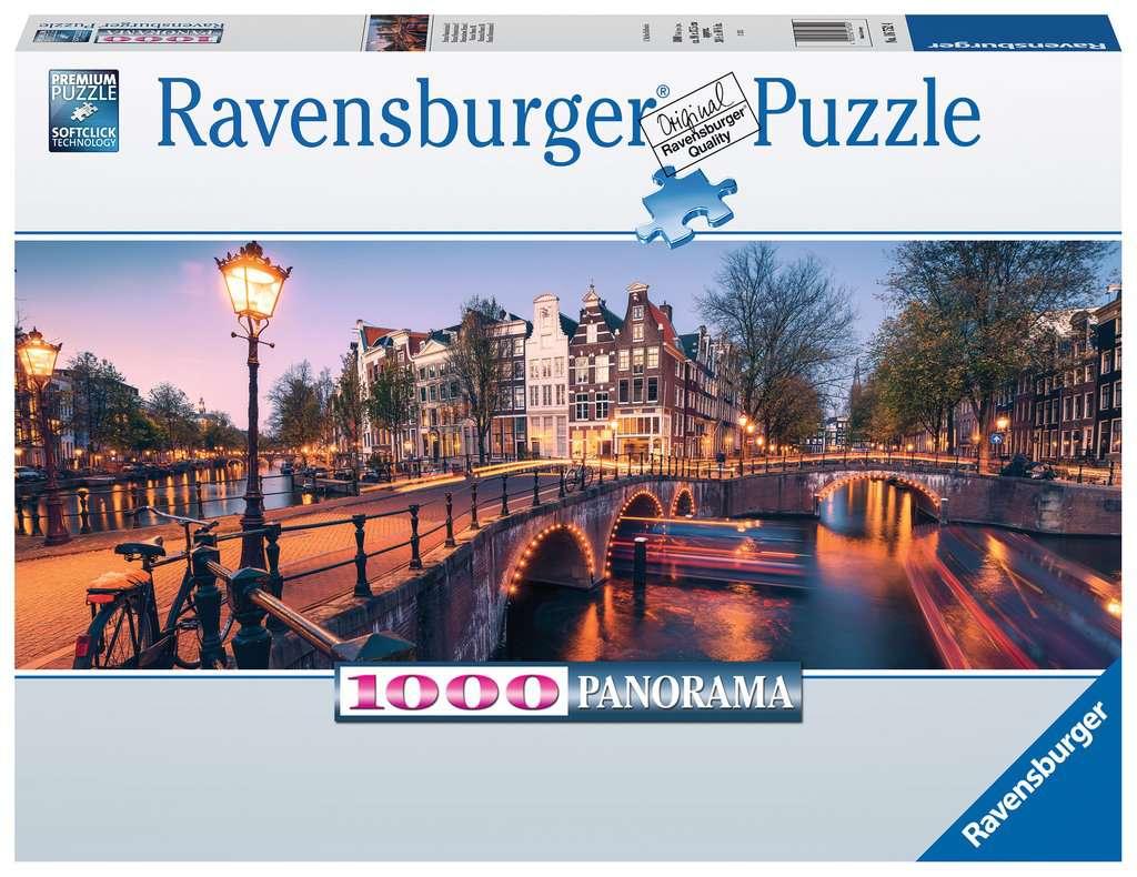 Puzzle Ravensburger Atardecer en Amsterdam de 1000 Piezas