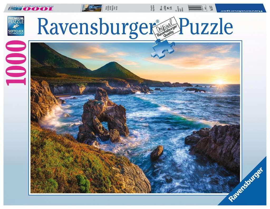 Puzzle Ravensburger Atardecer en Big Sur de 1000 Piezas