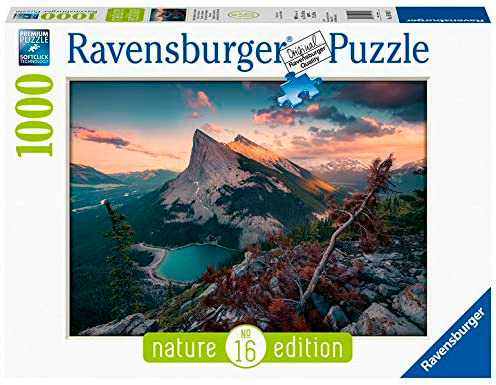 Puzzle Ravensburger Atardecer en la Montaña de 1000 Piezas