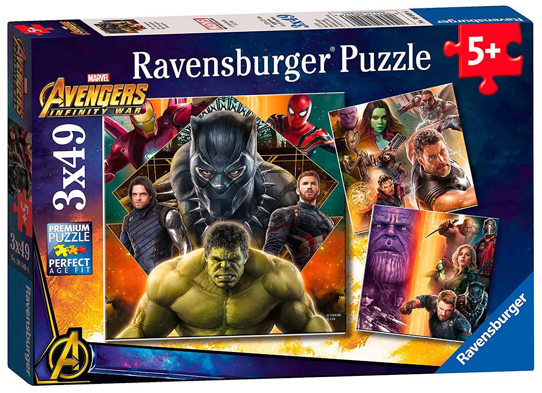 Puzzle Ravensburger Avengers Infinity War, de 3x49 Piezas