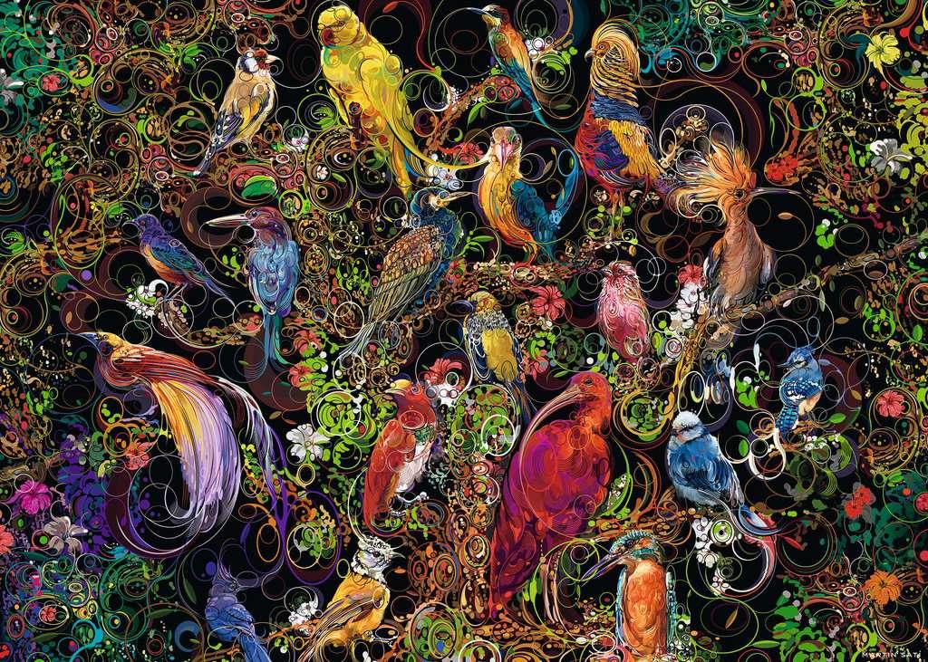 Puzzle Ravensburger Aves de Arte 1000 Piezas