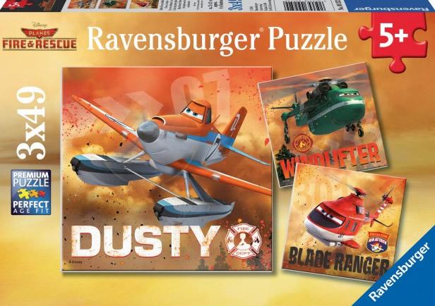 Puzzle Ravensburger Aviones Planes 2 3 x 49 Piezas