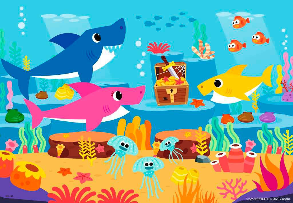 Puzzle Ravensburger Baby Shark de 2x24 Piezas