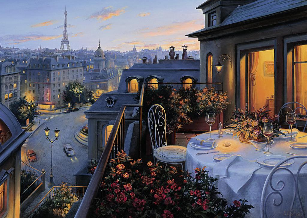 Puzzle Ravensburger Balcón en París de 1000 Piezas