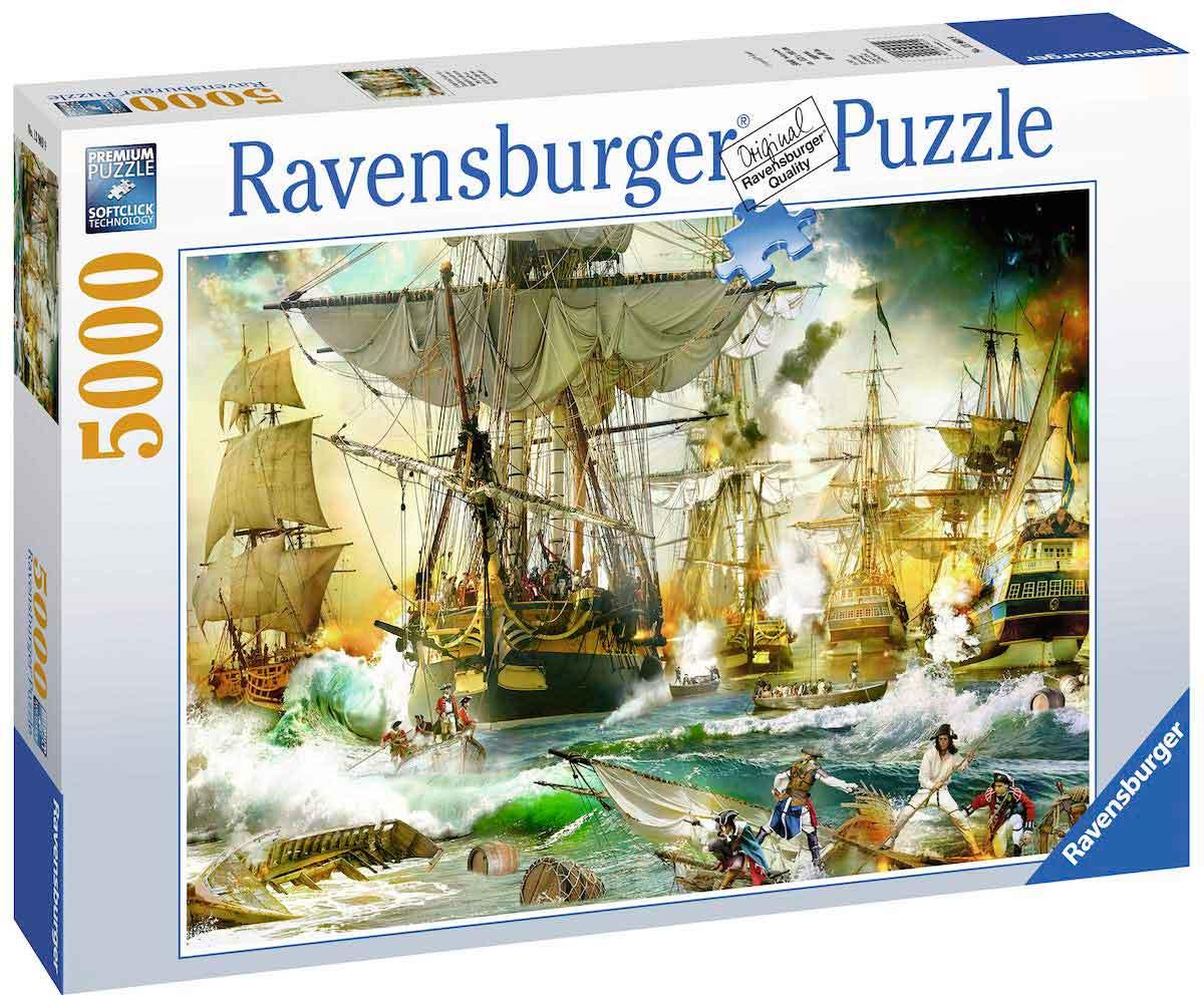 Puzzle Ravensburger Batalla Naval en Alta Mar de 5000 Piezas