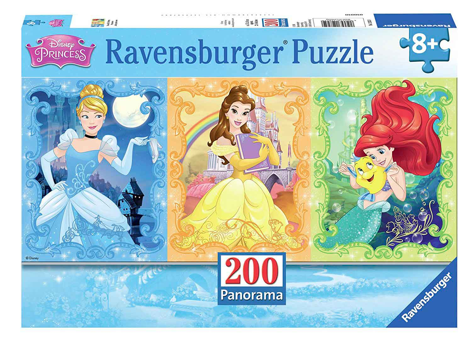 Puzzle Ravensburger Bellas Princesas Disney Panorama, 200 Pzs