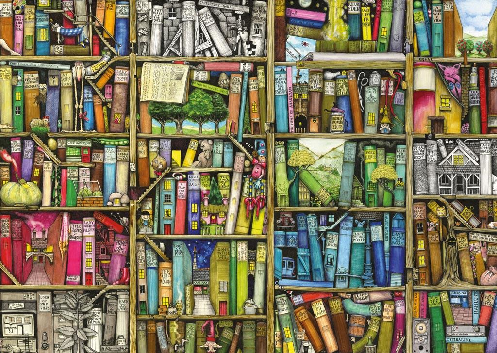 Puzzle Ravensburger Biblioteca Mágica I de 1000 Piezas