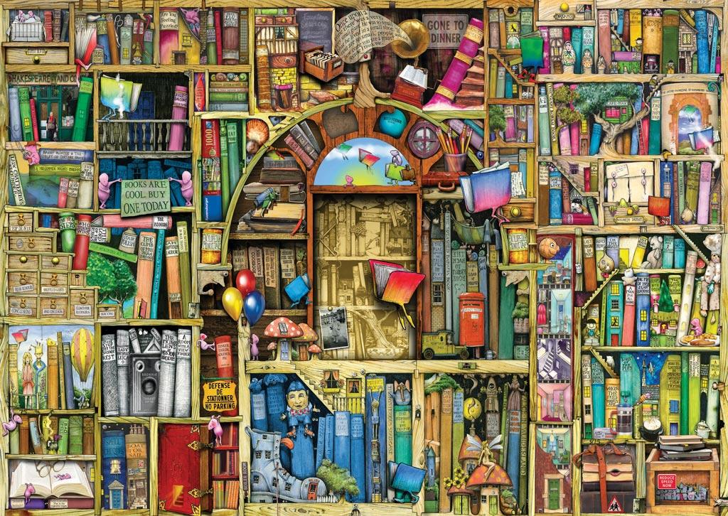 Puzzle Ravensburger Biblioteca Mágica II de 1000 Piezas