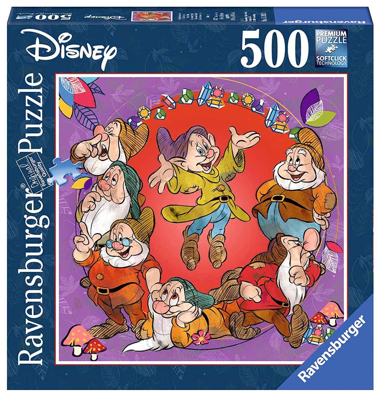 Puzzle Ravensburger Siete Enanitos de Blancanieves de 500 Piezas