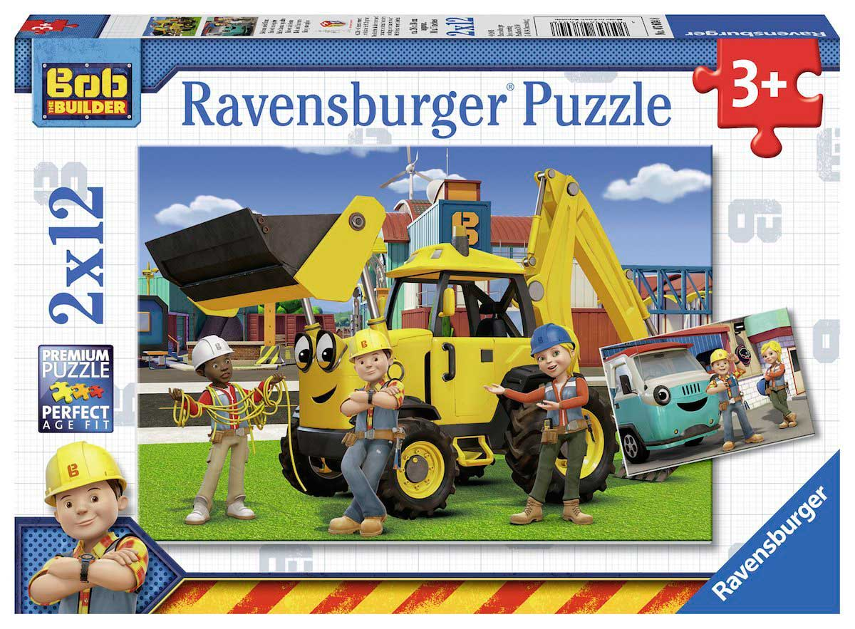 Puzzle Ravensburger Bob y su Equipo 2x12 Piezas