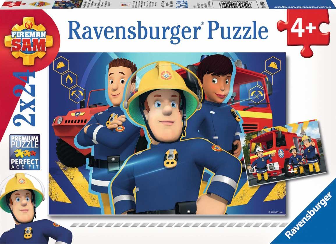 Puzzle Ravensburger Bombero Sam  2x24 Piezas