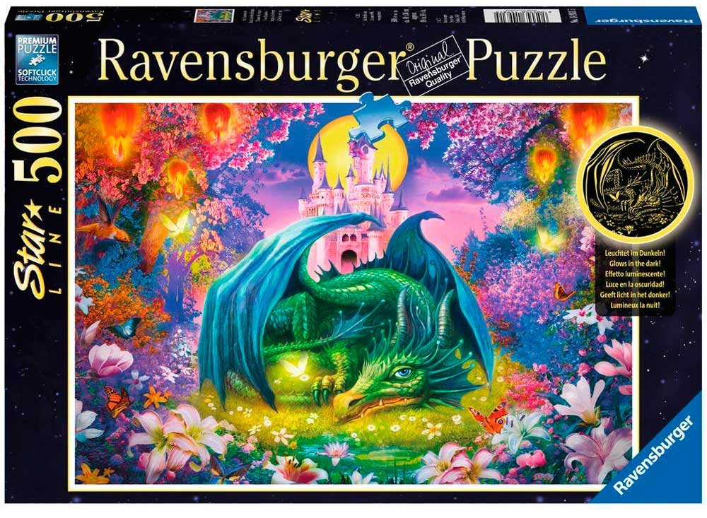 Puzzle Ravensburger Fosforescente Bosque de Dragones 500 Piezas