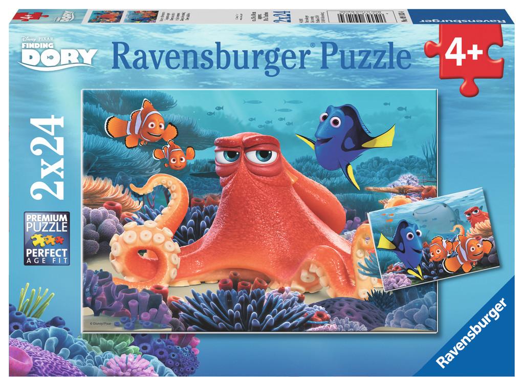 Puzzle Ravensburger Buscando a Dory 2 x 24 Piezas