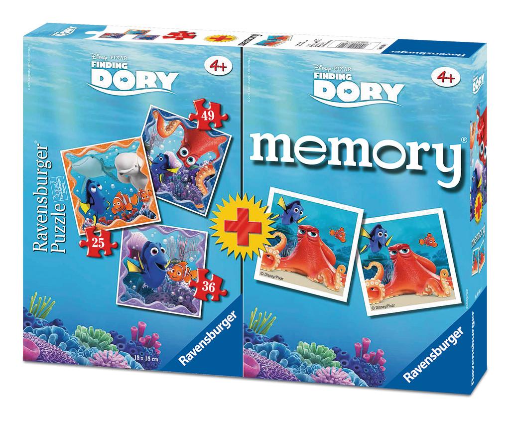 Puzzle Ravensburger Buscando a Dory 25+36+49 + Memory