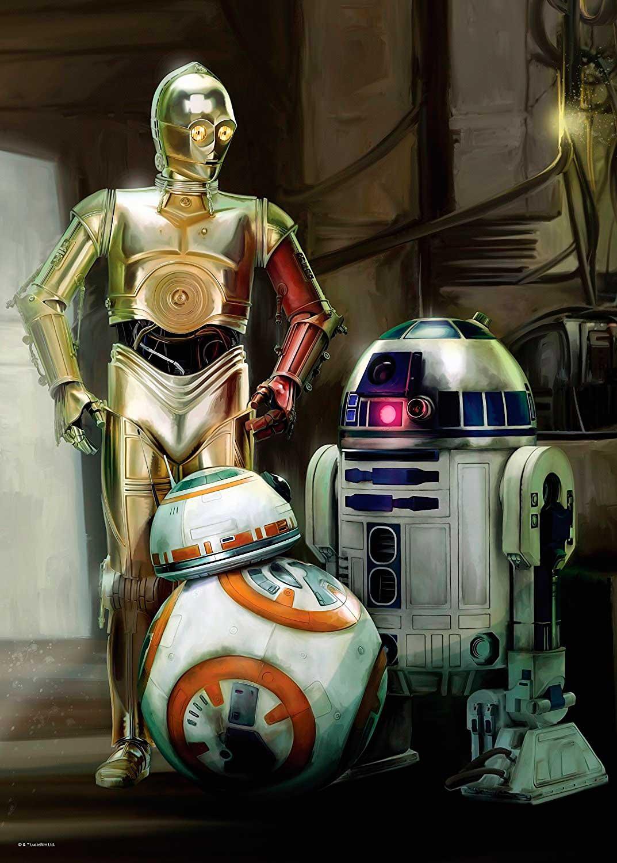 Puzzle Ravensburger C3PO, R2D2, BB8, Star Wars 1000 Piezas
