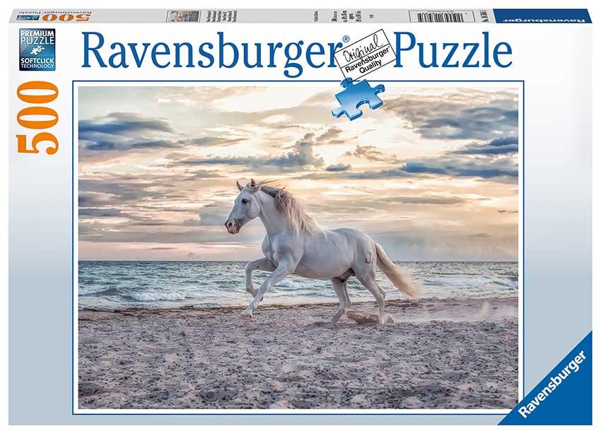 Puzzle Ravensburger Caballo Blanco de 500 Piezas
