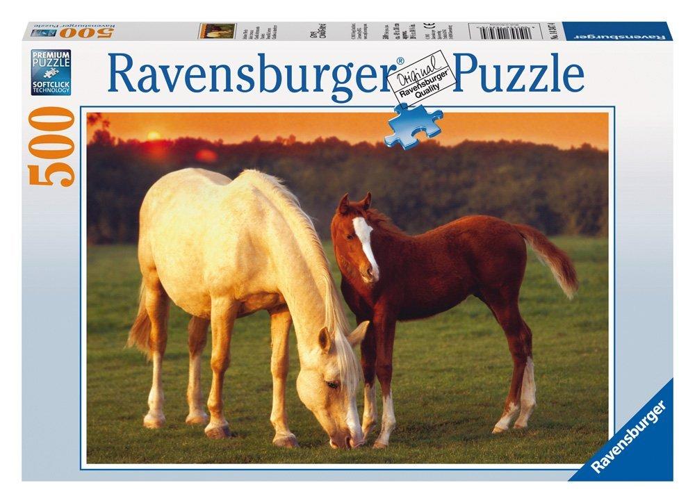 Puzzle Ravensburger Caballos al Atardecer de 500 Piezas