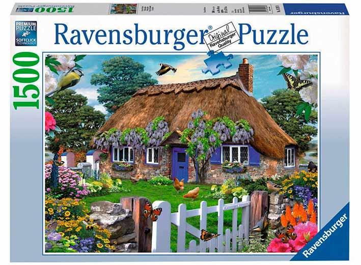 Puzzle Ravensburger Cabaña en Inglaterra de 1500 Piezas