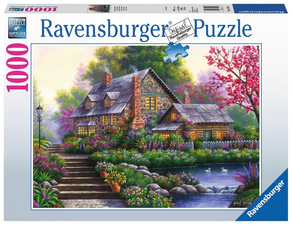 Puzzle Ravensburger Cabaña Romántica de 1000 Piezas