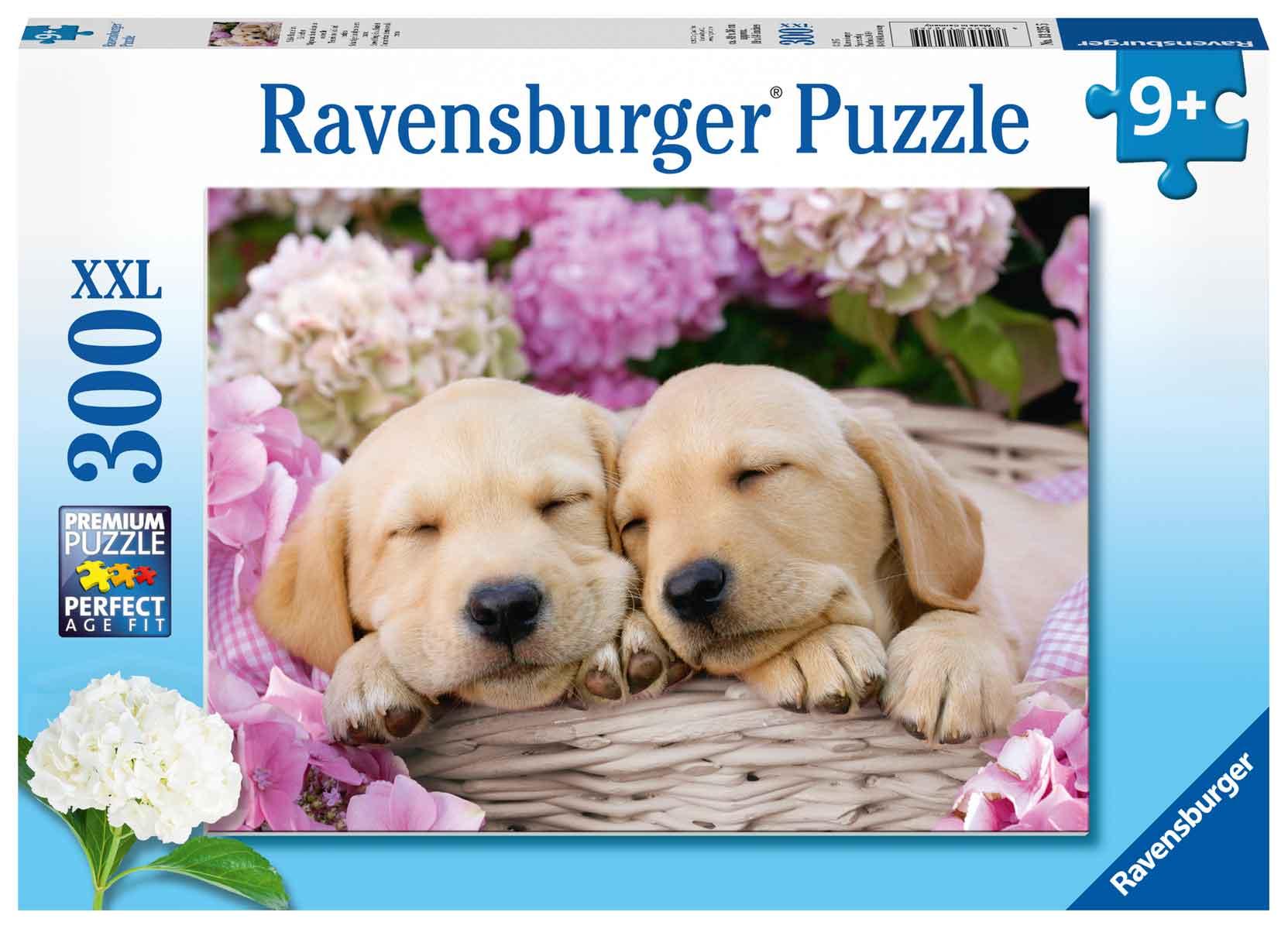Puzzle Ravensburger Cachorritos Tiernos de 300 Piezas XXL