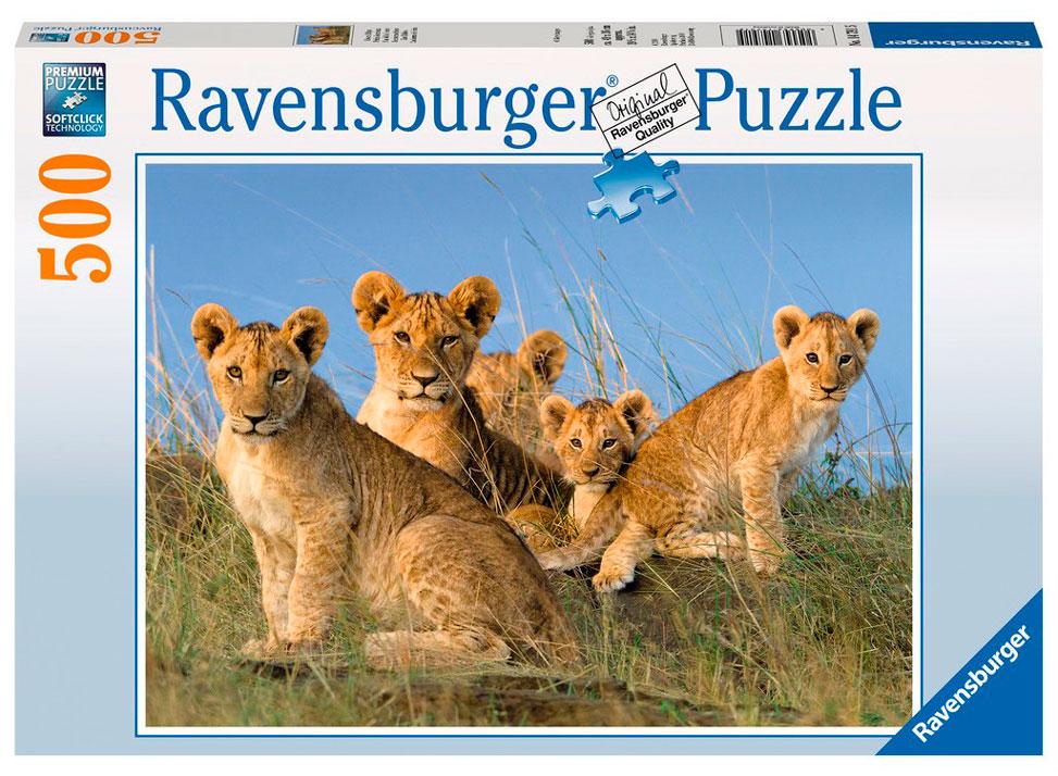 Puzzle Ravensburger Cachorros de León, 500 Piezas