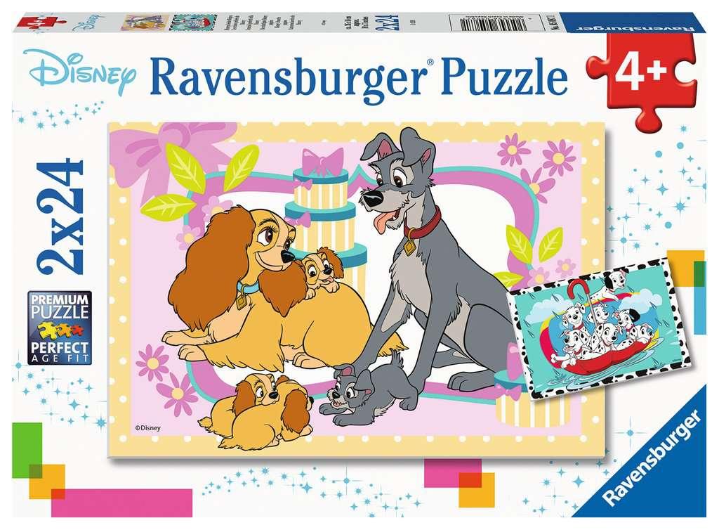 Puzzle Ravensburger Cachorros Favoritos de Disney de 2x24 Piezas