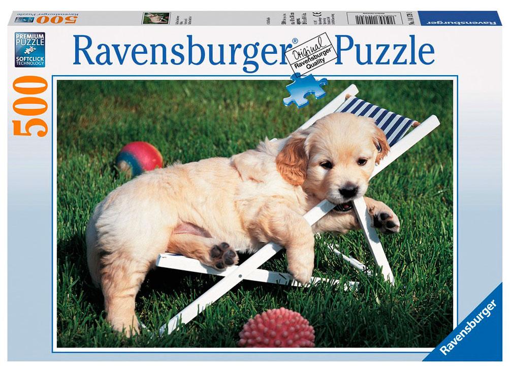 Puzzle Ravensburger Cachorros Golden Retriever 500 Piezas
