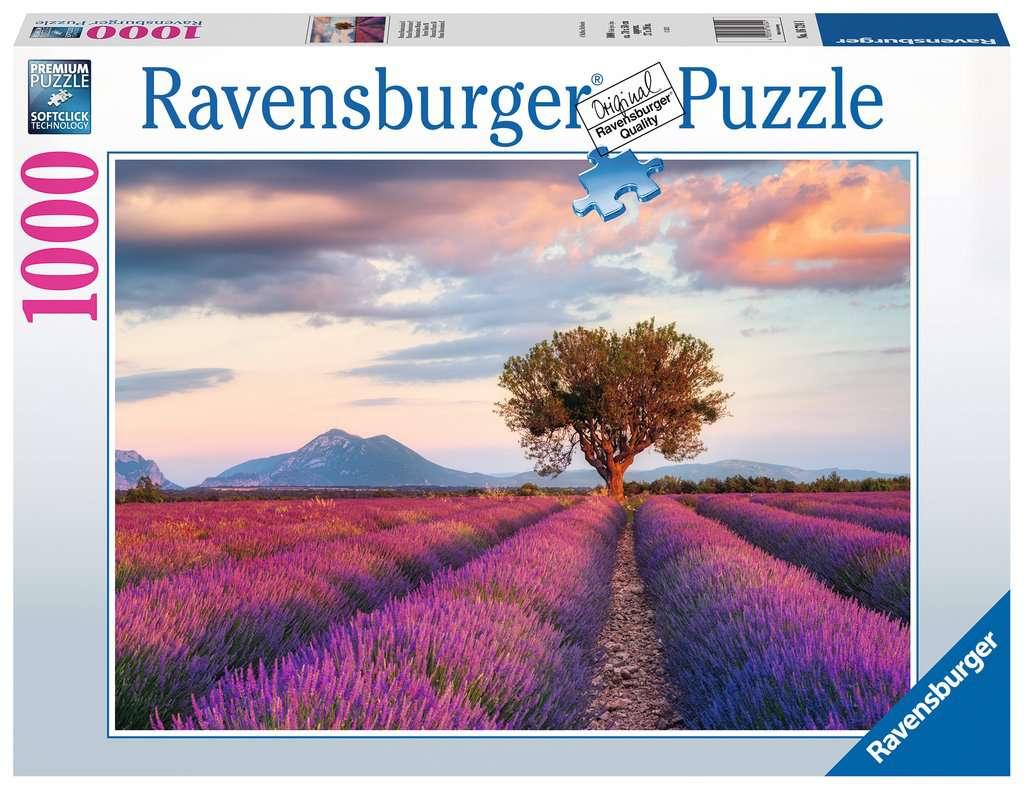 Puzzle Ravensburger Campos de Lavanda de 1000 Piezas