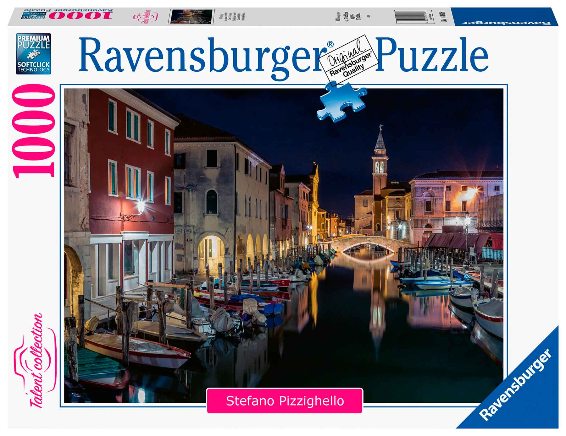 Puzzle Ravensburger Canales de Venecia de Noche de 1000 Piezas