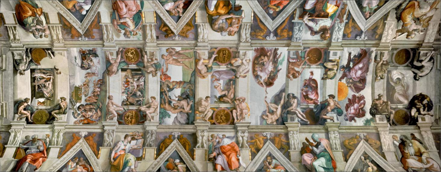 Puzzle Ravensburger Capilla Sixtina Panoramica de 1000 Piezas
