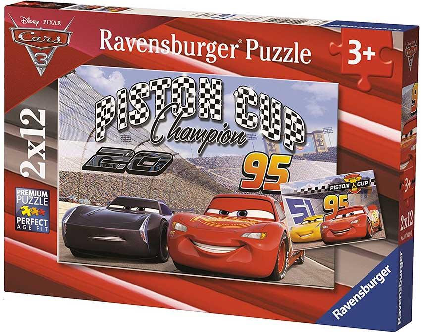 Puzzle Ravensburger Cars 3 de 2 x 12 Piezas