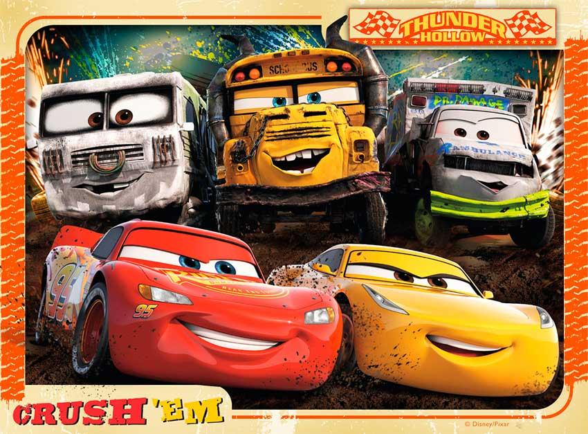 Puzzle Ravensburger Cars 3 Progresivo de 12+16+20+24 Piezas