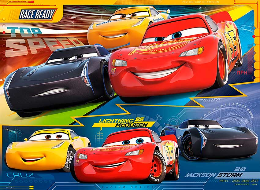Puzzle Ravensburger Cars 3 XXL de 100 Piezas