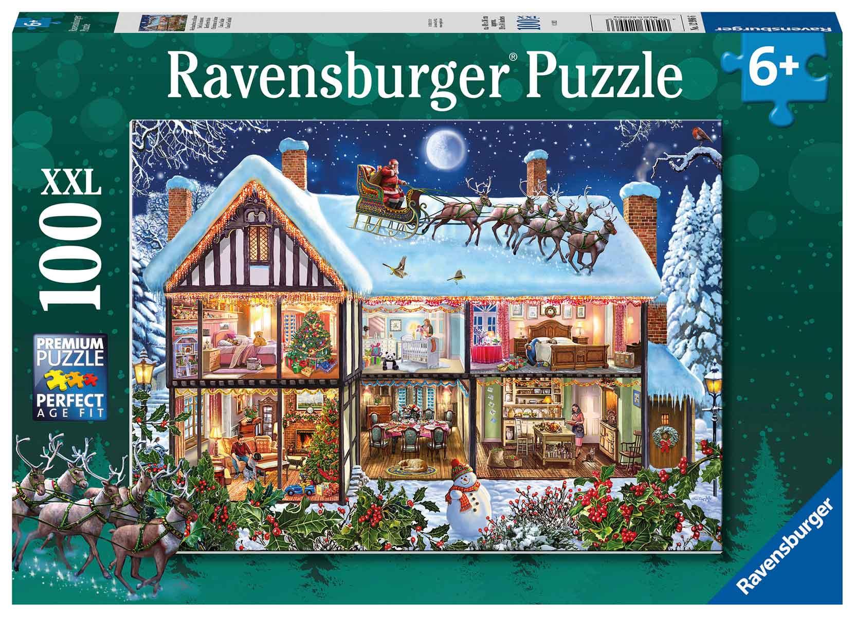 Puzzle Ravensburger Casa de Navidad XXL de 100 Piezas