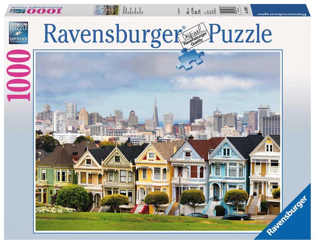 Puzzle Ravensburger Casas victorianas en S. Francisco de 1000 Pz